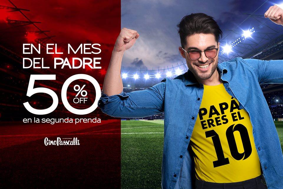 Aprovecha el 50% de #Descuento en la segunda prenda de los almacenes #GinoPasscalli Visita nuestras tiendas! *Aplica Condiciones*