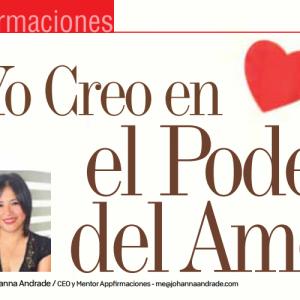 AFIRMACIONES | YO CREO EN EL PODER DEL AMOR