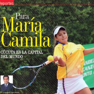 DEPORTES | PARA MARÍA CAMILA, CÚCUTA ES LA CAPITAL DEL MUNDO