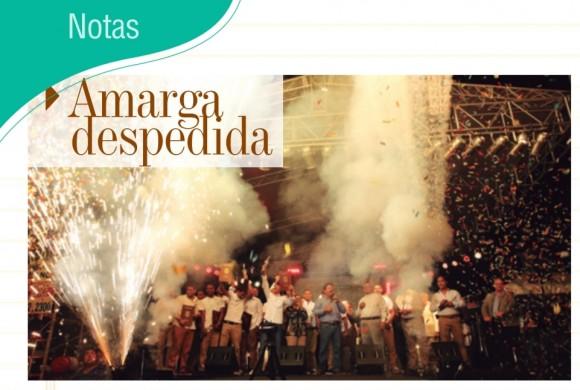 NOTAS | AMARGA DESPEDIDA