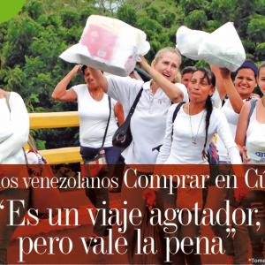 """FRONTERA   PARA LOS VENEZOLANOS COMPRAR EN CÚCUTA """"ES UN VIAJE AGOTADOR, PERO VALE LA PENA"""""""